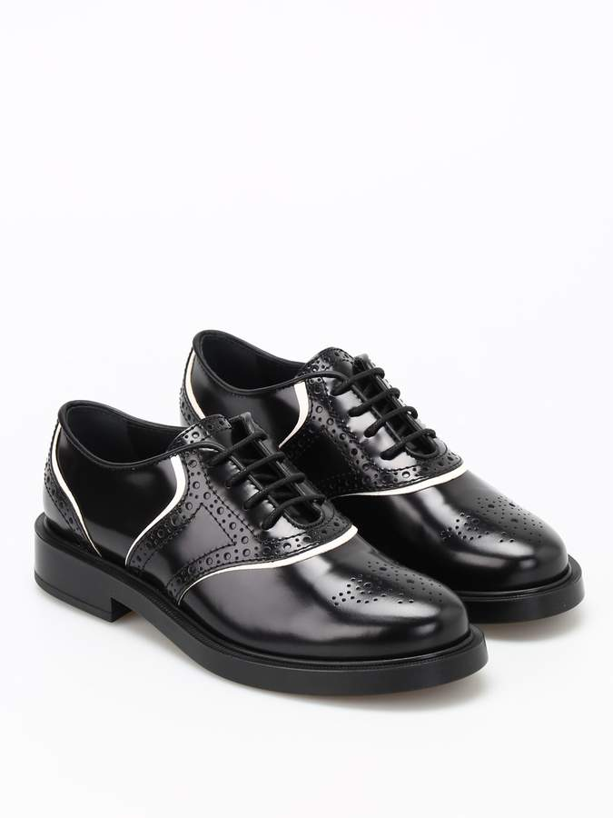3f1ca5dbcc Tods Lace-up Leather Oxford Shoes - ShopStyle
