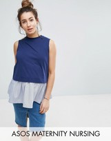ASOS Maternity - Nursing ASOS Maternity NURSING Tank with Woven Hem