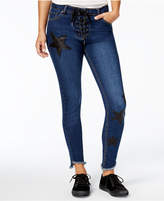 The Edit By Seventeen Juniors' Lace-Up Skinny Jeans, Created for Macy's