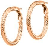 Italian Gold Round Diamond-Cut Hoop Earrings, 14K
