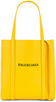 Balenciaga XXS Logo Everyday Tote in Yellow & Black | FWRD