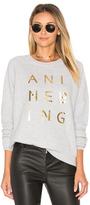 Anine Bing Gold Print Sweatshirt