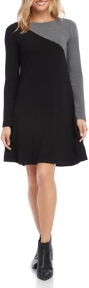 Karen Kane Colorblock Long Sleeve Sweater Dress
