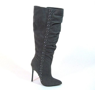 """The Highest Heel Unisex 4.5"""" Calf High Boots with Carbon Fiber Heel Fashion"""