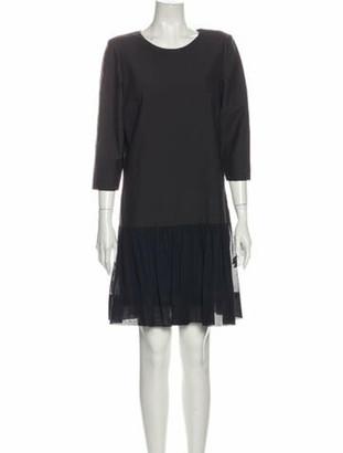 Brunello Cucinelli Scoop Neck Knee-Length Dress Grey