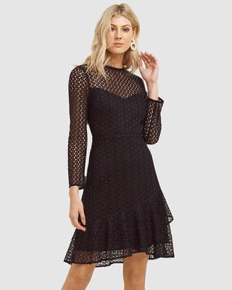 Cooper St Priscilla Long Sleeve Ruffle Hem Dress