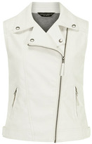 Dorothy Perkins White leather look biker gilet