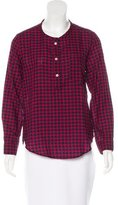 Etoile Isabel Marant Plaid Button-Up Top