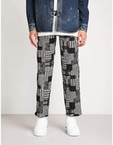 Off-White C/O Virgil Abloh Checked regular-fit straight stretch-cotton trousers