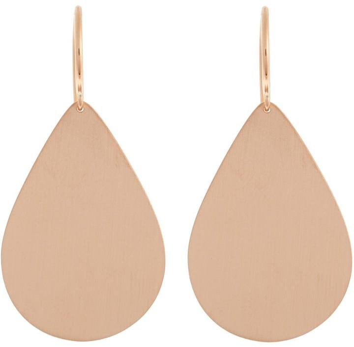 Irene Neuwirth Teardrop-shaped rose-gold earrings