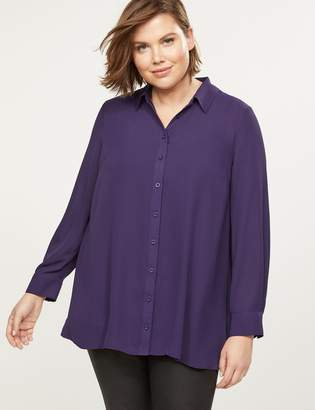 Lane Bryant Soft Button-Front Tunic