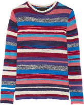 The Elder Statesman Striped Cashmere Sweater - Red