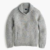 J.Crew Shawl-collar sweater in Donegal wool