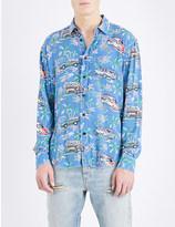 Saint Laurent Hawaiian-print regular-fit woven shirt