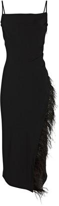 Derek Lam 10 Crosby Nellie Feather-Trimmed Midi Dress