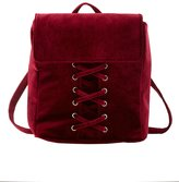 Charlotte Russe Velvet Lattice-Front Backpack