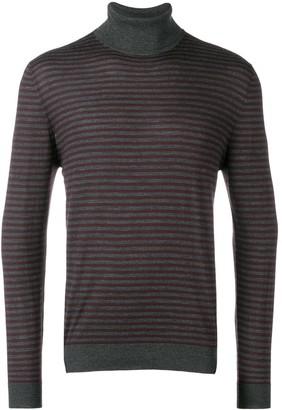 Eleventy Striped Turtleneck Pullover