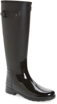 Hunter Refined Gloss Tall Duo Waterproof Rain Boot