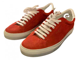 Givenchy Red Suede Trainers