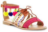 Mia Sara London Lace-Up & Ankle Strap Bead Detail Sandal