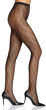 Fogal Adele Diamond & Dot Net Tights