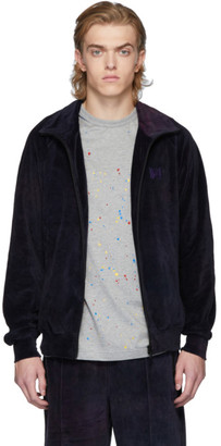 Needles Purple Velour Uneven Dye Track Jacket