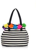 JADEtribe Nautical Striped Tassel Bag