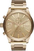 Diesel Men's Chronograph Rasp Chrono Gold-Tone Stainless Steel Bracelet Watch 50mm DZ4446
