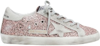 Golden Goose Superstar Rose Gold Glitter Sneakers
