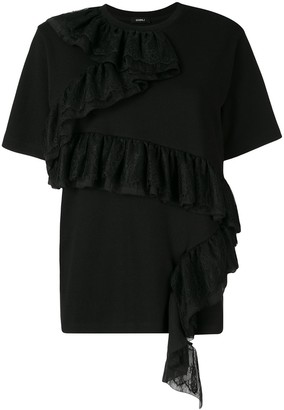 GOEN.J Ruffle Lace-Detail Top
