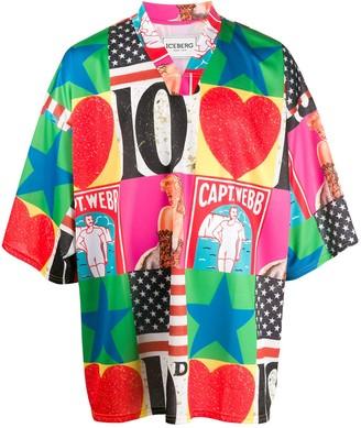 Iceberg american pin up T-shirt