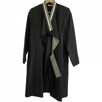 Bouchra Jarrar Navy Viscose Coats