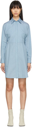 MM6 MAISON MARGIELA Blue Striped Poplin Shirt Dress