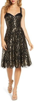 Dress the Population Corina Sequin Fit & Flare Cocktail Dress