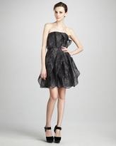 Halston Printed Organza Dress