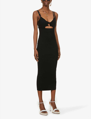 Jacquemus La Robe Pila cut-out linen-knit midi dress