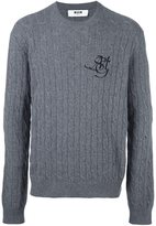 MSGM cable knit jumper - men - Polyamide/Wool - L