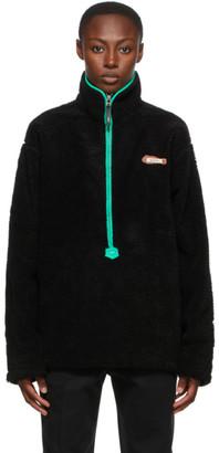 Ader Error Black Half Zip-Up Sweatshirt