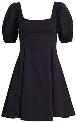 STAUD Laelia Flared Mini Dress