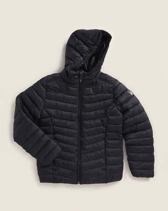 Spyder Girls 7-16) Black Hooded Coat