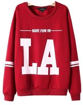 MonaPiya Clothing Store Women Cute Korean Harajuku Two Tone Crop Tops Pullover Sweatshirt Size L