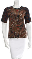 A.L.C. Silk Paisley Printed Top