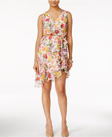 Thalia Sodi Floral-Print Ruffled A-Line Dress, Only at Macy's