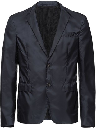 Prada Single-breasted nylon jacket