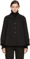 MM6 MAISON MARGIELA Black Wool Swing Coat