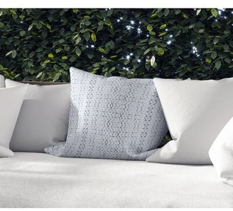 "Union Rustic Gerdie Outdoor Square Cotton Pillow Cover and Insert Color: Blue/Gray, Size: 18"" x 18"""
