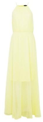 Dorothy Perkins Womens Yellow Tie Neck Maxi Dress, Yellow