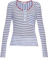 Frame Le Nautical long-sleeved linen top