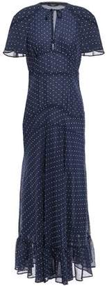 ALEXACHUNG Cape-effect Polka-dot Chiffon Midi Dress