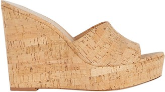 Veronica Beard Dali Cork Platform Wedge Sandals